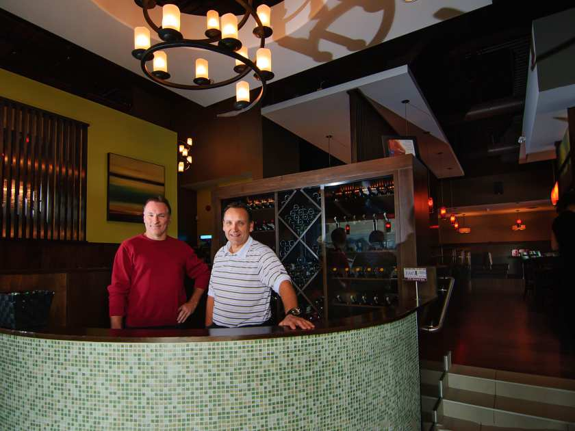 Enviromon Owner eric lamoureux and Jose's Bar and Grill owner Ernie Nesbitt