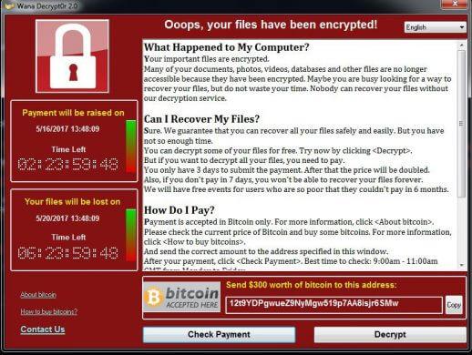 WannaCry-Ransomware-Message